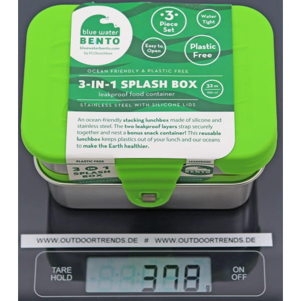 ECOlunchbox 3-in-1 Splash Box - Proviantdose green - Bild 3