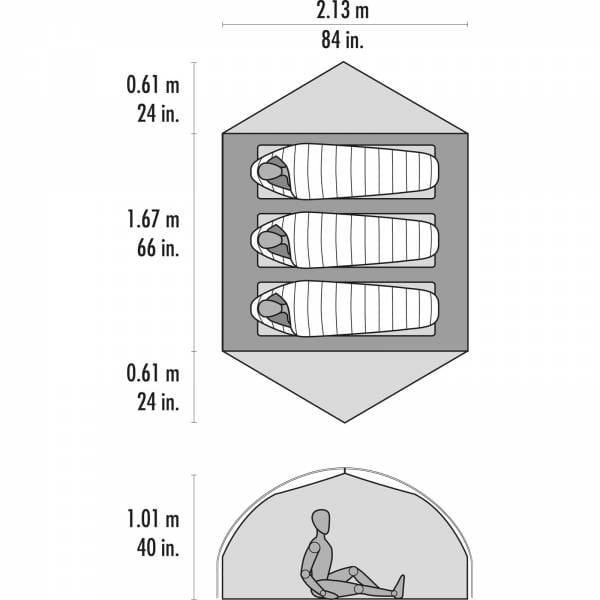 MSR Carbon Reflex 3 - Drei-Personen-Zelt - Bild 4