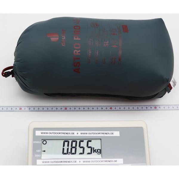 deuter Astro Pro 400 SL - Daunen-Schlafsack teal-redwood - Bild 5