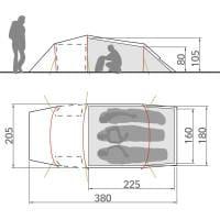 Vorschau: VAUDE Arco XT 3P - Drei-Personen-Tunnelzelt - Bild 6