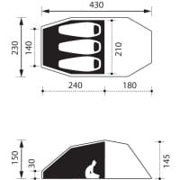 Vorschau: NOMAD Dogon 3 Compact Air - 3-Personen-Zelt twill - Bild 6