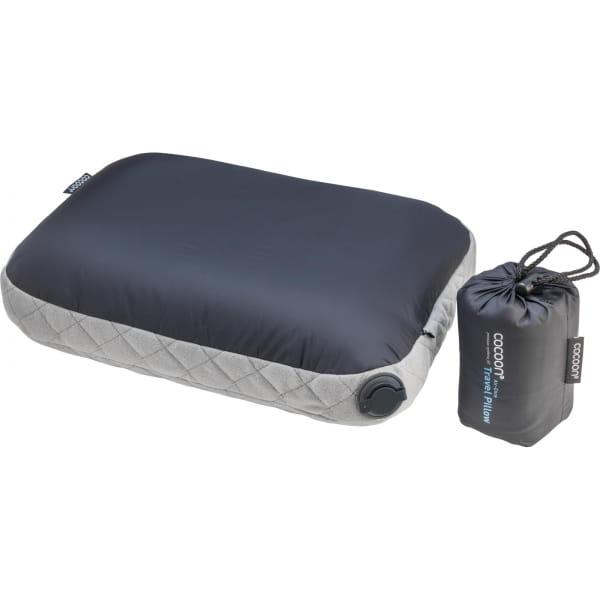 COCOON Air-Core Pillow - Reise-Kopfkissen smoke grey-charcoal - Bild 1
